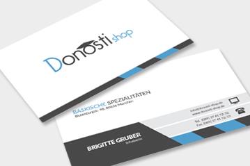 Visitenkarten DonostiShop